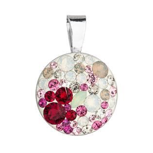 Stříbrný přívěšek s kameny Crystals from Swarovski® Sweet Love