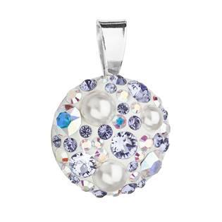 Stříbrný přívěšek s kameny Crystals from Swarovski® Tanzanite AB