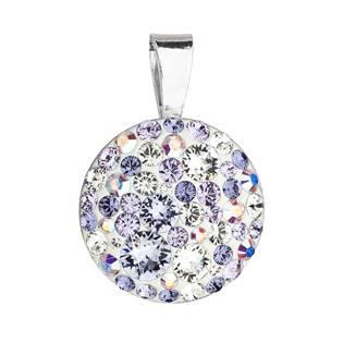 Stříbrný přívěšek s kameny Crystals from Swarovski® Violet