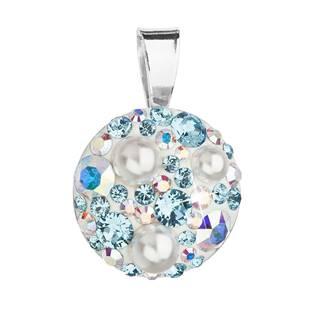 Stříbrný přívěšek s kameny Crystals from Swarovski®Aquamarine AB