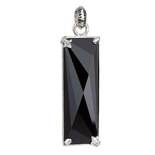 Stříbrný přívěsek s krystaly černý obdélník