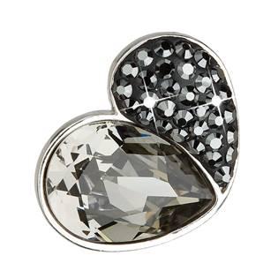 Stříbrný přívěsek s krystaly Crystals from Swarovski® Black Diamond