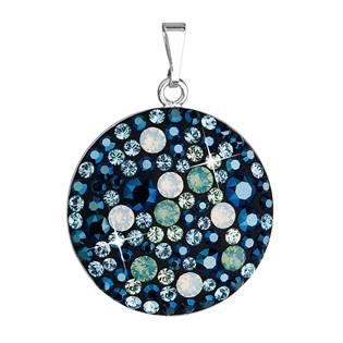 Stříbrný přívěšek s krystaly Crystals from Swarovski® Blue Style