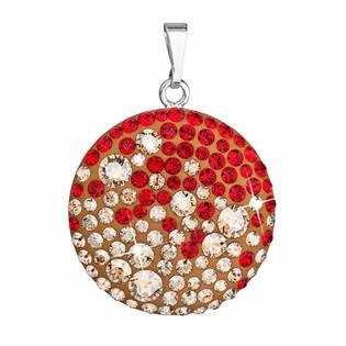 Stříbrný přívěšek s krystaly Crystals from Swarovski® Red