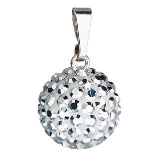 Stříbrný přívěšek s kulička Crystals from Swarovski® Silver