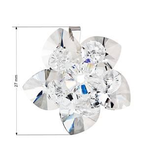 Stříbrný přívěšek s kytička s kamínky Crystals from Swarovski® Crystal