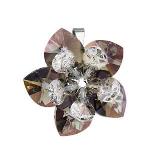 Stříbrný přívěšek s kytička s kamínky Crystals from Swarovski® Grey