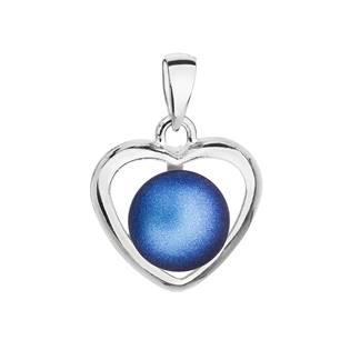Stříbrný přívěsek s modrou Swarovski perlou