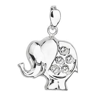 Stříbrný přívěšek slon s kameny Crystals from Swarovski®