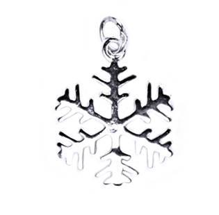 Stříbrný přívěšek sněhová vločka