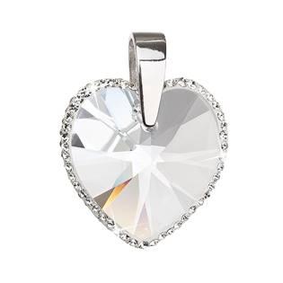 Stříbrný přívěšek srdce Crystals from Swarovski® Crystal