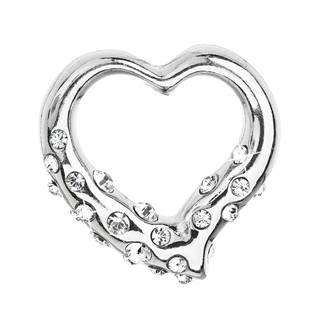 Stříbrný přívěšek srdce s kameny Crystals from Swarovski®