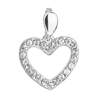 Stříbrný přívěšek srdíčko s kameny Crystals from Swarovski®