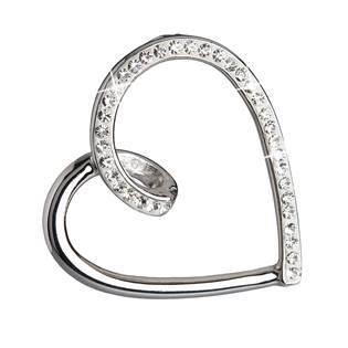 Stříbrný přívěšek srdíčko s kamínky Crystals from Swarovski®