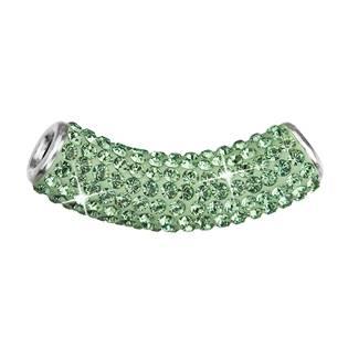 Stříbrný přívěšek tubus s krystaly Crystals from Swarovski® Peridot