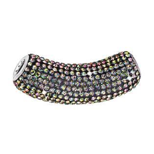 Stříbrný přívěšek tubus s krystaly Crystals from Swarovski®, Vitrail Medium