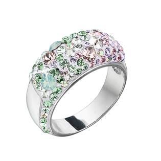 Stříbrný prsten Crystals from Swarovski® Sakura, vel: 52