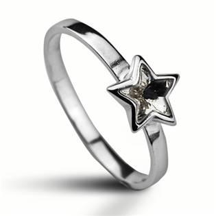 Stříbrný prsten s hvězdičkou Crystals from SWAROVSKI®