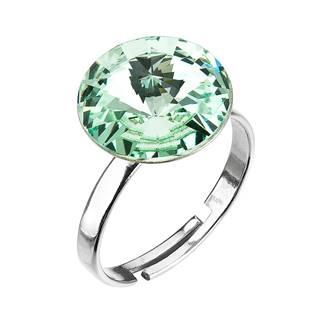 Stříbrný prsten s kamenem Crystals from Swarovski® Chrysolite