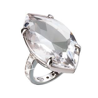 Stříbrný prsten s kamenem Crystals from Swarovski® Crystal