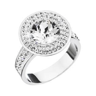 Stříbrný prsten s krystaly Swarovski Crystal