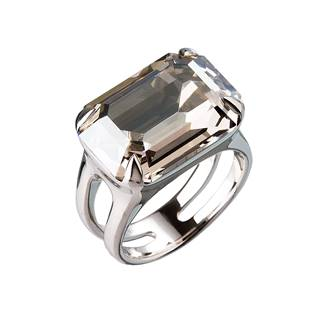 Stříbrný prsten s kulatým kamenem Crystals from Swarovski® vel: 54