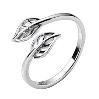 Stříbrný prsten s lístečky