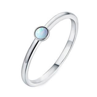 Stříbrný prsten s opálem 3 mm