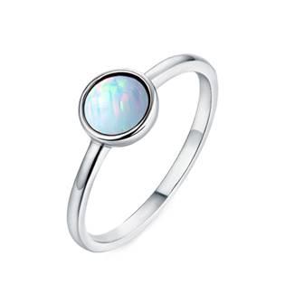Stříbrný prsten s opálem 6 mm