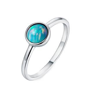 Stříbrný prsten s opálem 6 mm, vel. 51