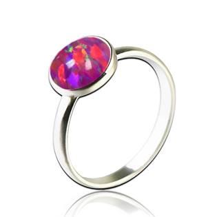 Stříbrný prsten s opálem 8 mm