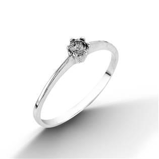 Stříbrný prsten s zirkonem