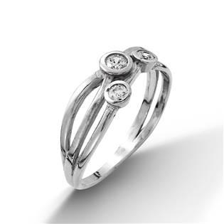 Stříbrný prsten se 3mi zirkony vel. 55