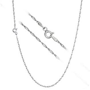 Stříbrný řetízek lambada - kroucený, délka 40 cm