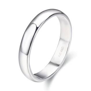 Stříbrný snubní prsten šíře 4 mm