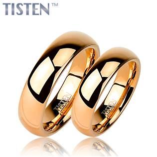 TIS0003 Tistenové snubní prsteny zlacené - pár