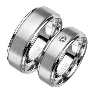 TIS0012 Matné snubní prsteny TISTEN - pár