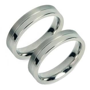 Titanové snubní prsteny 0129-01 - pár