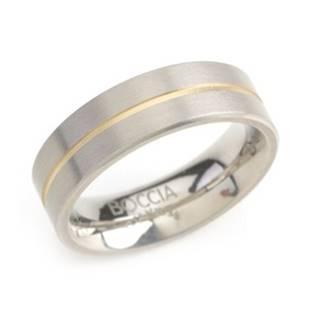 Titanový prsten BOCCIA® se zlacenou drážkou 0101-03