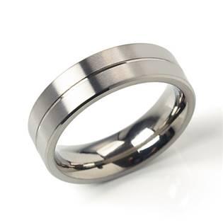 Titanový prsten s drážkou BOCCIA® 0101-22