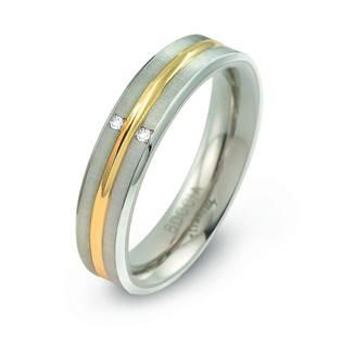 Titanový snubní prsten s diamanty 0144-01