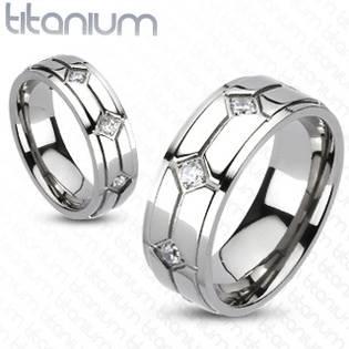 TT1014 Dámský snubní prsten titan
