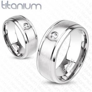 TT1020 Dámský snubní prsten titan
