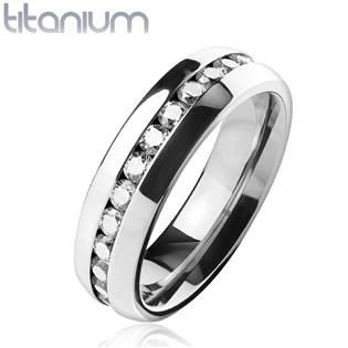 TT1042 Dámský prsten titan, šíře 6 mm