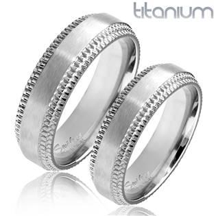 TT1044 Titanové snubní prsteny - pár