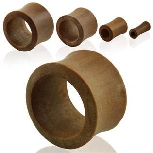 Tunel do ucha Teak wood, průměr 22 mm