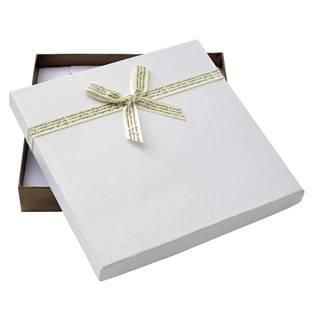 Velká dárková krabička na soupravu s béžovou mašlí