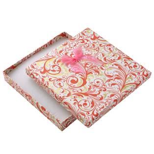 Velká dárková krabička na soupravu s růžovou mašlí