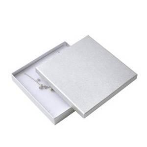Velká krabička na soupravu šperků - stříbrná
