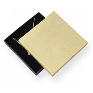 Velká krabička na soupravu šperků, zlatá/černá
